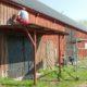 vi målar ladugårdens fassad