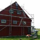 Fassadenrenovierung der Scheune, Nordgiebel