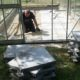 Vi bestämde oss att lägga betongplattor..