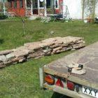 Kalkstein für Gartenwege